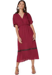 b507e15f6f Vestido Decote V Ilhos feminino
