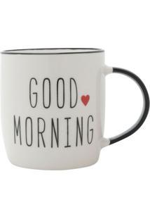 Caneca Good Morning Branca E Preta 9,3X7,3X8,5 Cm