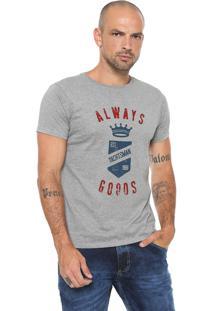 Camiseta Yachtsman Estampada Cinza