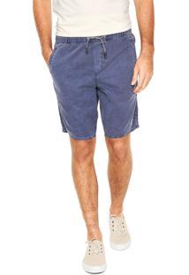Bermuda Sarja Calvin Klein Jeans Reta Azul