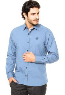 Camisa Forum Slim Azul