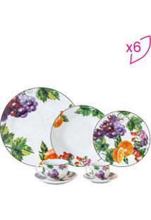 Aparelho De Jantar Fruit- Branco & Verde- 42Pçswolff