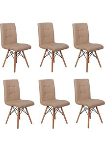 Cadeira E Banco De Jantar Impã©Rio Brazil Eiffel Gomos Estofada - Bege/Incolor - Dafiti