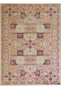 Tapete Isfahan Retangular Veludo 48X90 Cm Creme