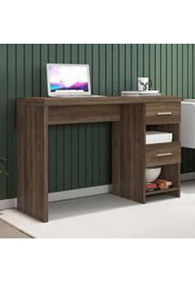 Mesa Para Computador 2 Gavetas Duna New Carvalho - Móveis Germai