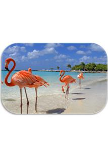 Tapete Decorativo Wevans Flamingos 40Cm X 60Cm Azul - Azul - Dafiti