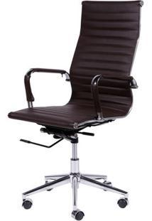 Cadeira Or Design Office Eames Esteirinha Alta Giratória Or-3301 Cafe