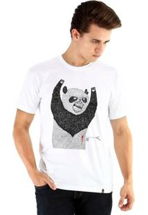 Camiseta Ouroboros Manga Curta Pandassauro - Masculino-Branco