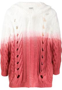Saint Laurent Cardigan Chunky Com Capuz - Branco