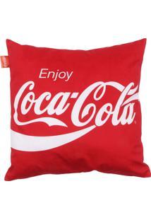 Capa De Almofada Coca-Cola Enjoy Vermelho 45 X 45 Cm Urban