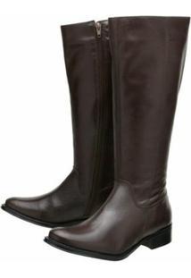 Bota Encinas Leather Montaria Tradicional - Feminino-Marrom