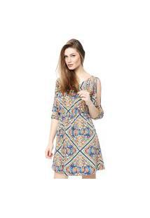 Vestido Mercatto Hippie Azul
