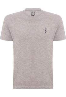 Camiseta Aleatory Lisa Masculina - Masculino-Cinza