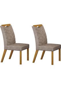 Conjunto Com 2 Cadeiras Verona Imbuia Mel E Cinza