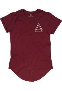 Camiseta Stoned Longline Triple Triangle Bordô