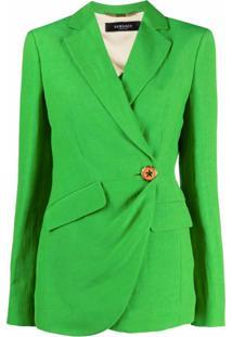 Versace Blazer Trésor De Linho - Verde