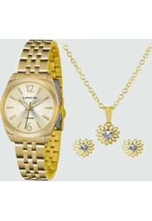 Kit Relógio Feminino Lince Lrgh073Lku68C2Kx