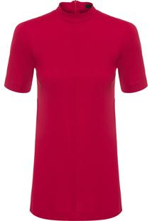 Blusa Feminina Long Classic - Vermelho