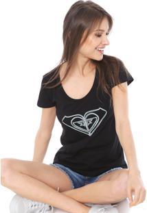 Camiseta Roxy So Lines Preta