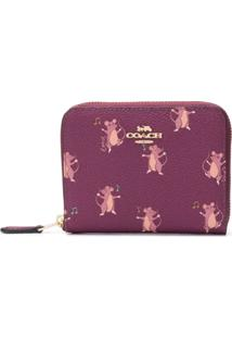 Coach Carteira Com Estampa Mouse - Rosa