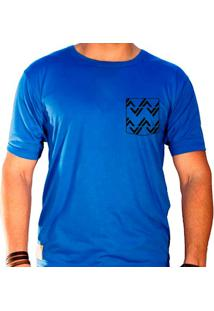 Camiseta Masculina Sandro Clothing Rhys Azul