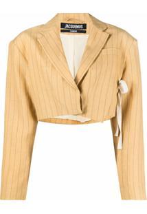 Jacquemus La Veste Santon Cropped Suit Jacket - Amarelo