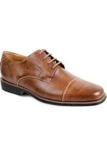 Sapato Social Couro Sandro & Co Masculino - Masculino-Caramelo