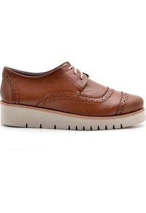 Oxford Top Franca Shoes Casual Feminino - Feminino-Caramelo