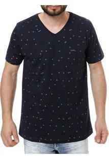 Camiseta Manga Curta Masculina No Stress Azul Marinho