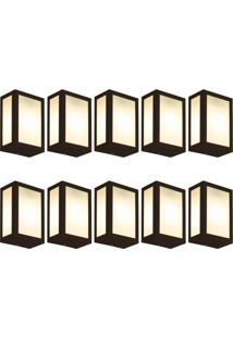 Arandela Fox Marrom Kit Com 10 Casah