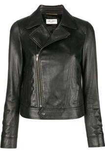 Saint Laurent Fitted Biker Jacket - Preto