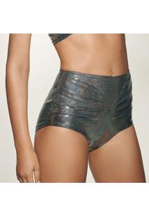 Calcinha Hot Pant Holográfica - Prateada & Pretahope