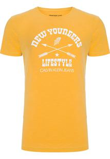 Camiseta Masculina Estampada New Youngers - Amarelo