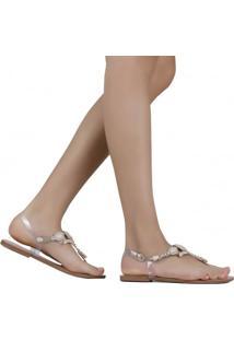 Sandália Zariff Shoes Rasteira Pedrarias