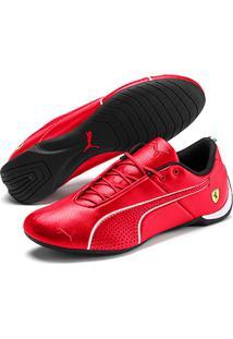 Tênis Couro Puma Scuderia Ferrari Future Cat Ultra Masculino - Masculino-Vermelho+Branco
