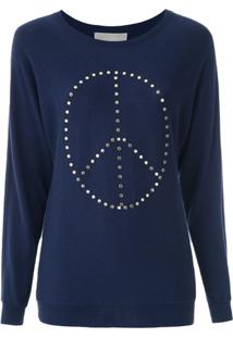 Michael Michael Kors Blusa 'Peace Dolman' De Tricô - Azul