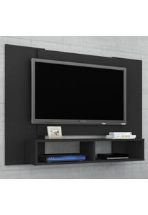 Painel Para Tv Até 42 Polegadas Navi Preto Fosco - Móveis Bechara