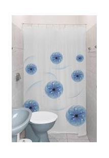 Cortina Box De Banheiro 1,80M X 1,40M Com Kit De Instalação