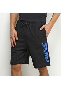 Bermuda Calvin Klein Cotton Masculina - Masculino-Preto