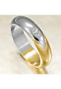 Aliança De Ouro Casamento Anatômica Com Diamantes - As0894 + As0893