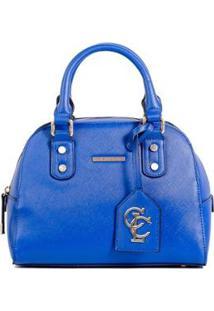 Bolsa Saffiano Mini Baú Colcci Feminina - Feminino-Azul
