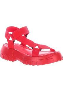 Papete Hope Damannu Shoes Feminino - Feminino-Vermelho