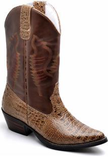 Bota Top Franca Shoes Texana - Masculino-Vermelho