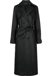 Kwaidan Editions Trench Coat Fosco - Preto