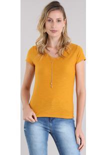 Blusa Básica Flamê Amarela