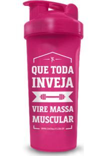 Coqueteleira Rosa Massa Muscular - Powerfoods