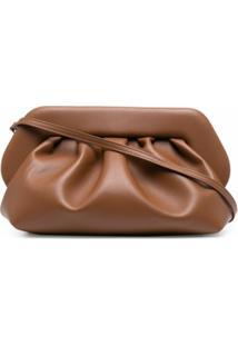 Themoirè Bios Leather Clutch Bag - Marrom