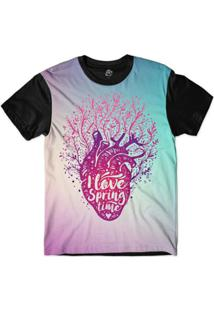 Camiseta Bsc I Love Sublimada Masculina - Masculino-Rosa