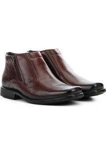 Sapato Social Couro Pegada Perfuros Masculino - Masculino-Marrom