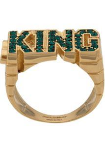 Dolce & Gabbana King Shape Ring - Dourado